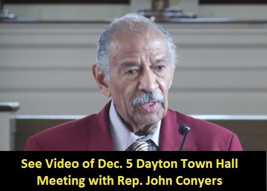 Rep John Conyers speaks at 12/5 Dayton Town Hall Meeting on unemployment